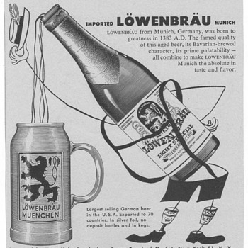 1953 Lowenbrau Advertisement - Advertising