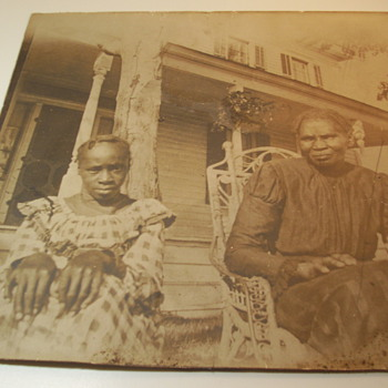 unframed photos, african american women