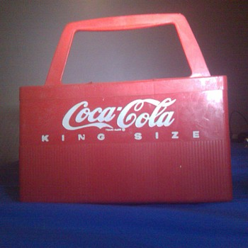 My 2 1960s-1970s Hard Plastic Coca-Cola Bottle Carriers - Coca-Cola