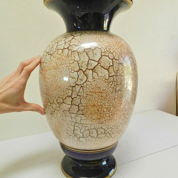 "Huge 1930's(?) Czech Floor vase - Marked ""TM"" - Pottery"