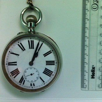 Old railway pocket watch but whose it made by ?