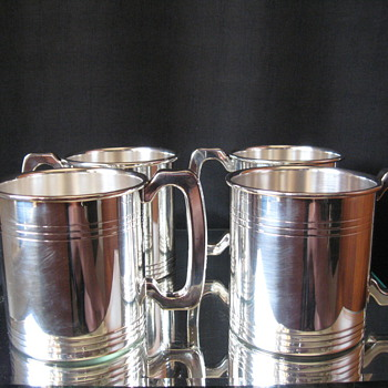 WALLACE SILVER PLATED BEER MUGS SET OF 4