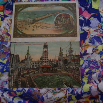 2 POSTCARDS , 1911, ATLANTIC CITY RELATED