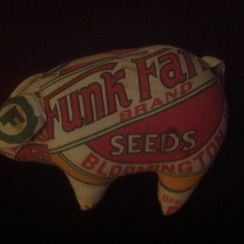Funk farms seed bag stuffed pig