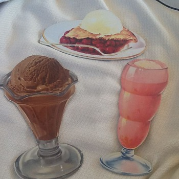 Restaurant/ice cream parlour cardboard cutouts Litho in USA
