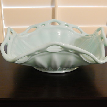 Fostoria Colonial Prism aqua bowl