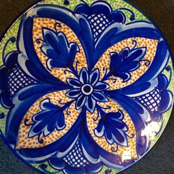 Spanish wall plate - Pottery