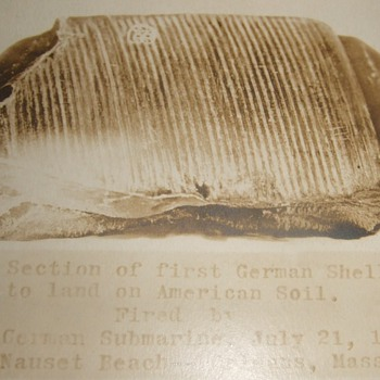 Shell fragment from German U-boat attack on US soil WW1