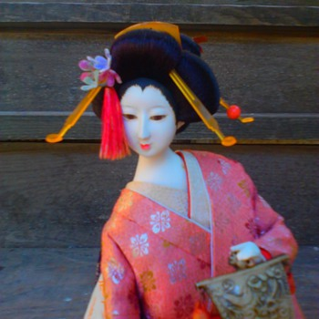 Geisha doll rescue; andon lamp dancer with uchiwa fan (continued)