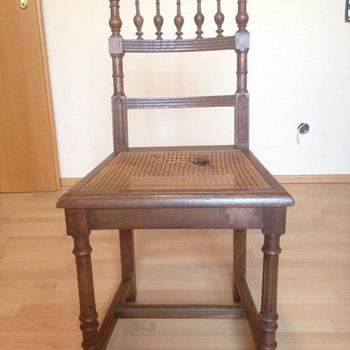 Oak and Reed?  Dining Chair... Another Henri II ? - Furniture