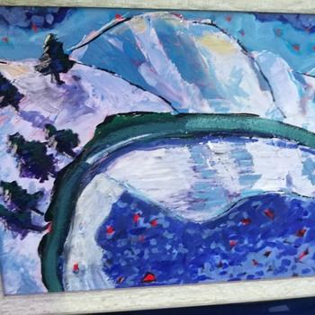 Winter scene  - Visual Art