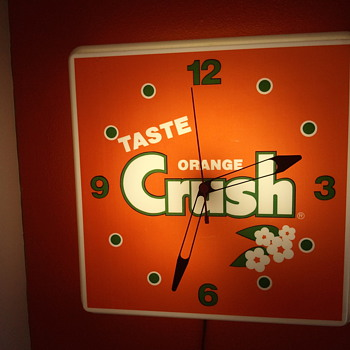 Crush clock - Advertising