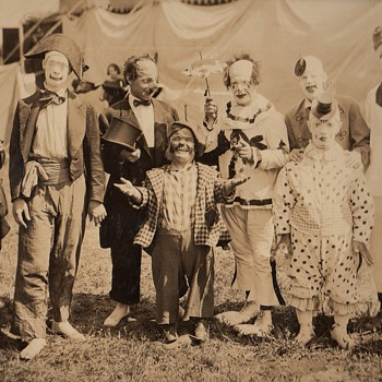 Large Original 1922 Photograph Walter Main Circus Clowns Freaks Collection Jim Linderman - Photographs