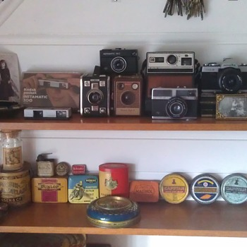 My  Vintage Camera and Advertising Tins Collection. - Cameras