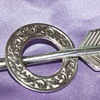 Victorian Silver Arrow Pin