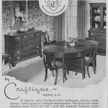 1950 Craftique Furniture Advertisement