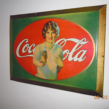 "1926 Coca-Cola Tin Sign, 8 1/2"" x 11"" - Coca-Cola"