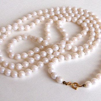 I'm no Grace Kelly, but Pearls are so classy.