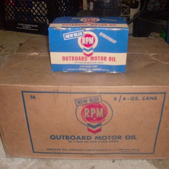 Two Full Cases of RPM Outboard Oil 1963 - Petroliana