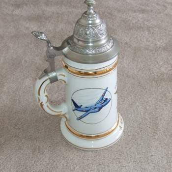 Patrol Squadron Sixteen (VP-16) USN  Painted Beer Stein c. 1958 - Military and Wartime