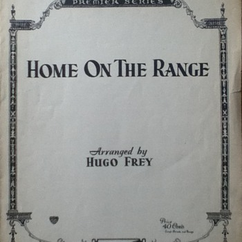 &quot;Home On The Range&quot; Sheet Music - Paper