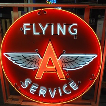 Flying A Service neon sign - Signs