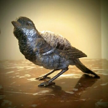 antique Vienna bronze sparrow.