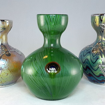 Signed Loetz Phänomen genre 6893 Series I PN 7772 - Art Glass