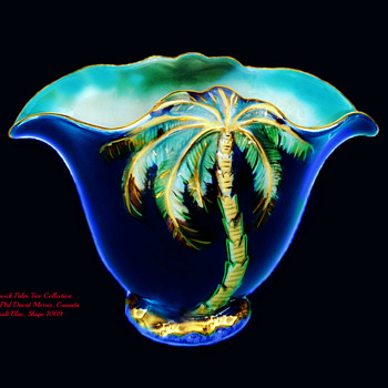Rare Beswick Palm Tree Vase #1069 - Art Deco