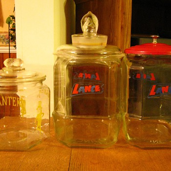Planter's Peanut & Lance Peanut Glass Jars