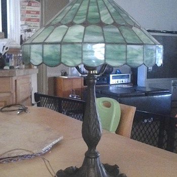 this is an original vintage lamp that was my gradmoters i dont know the maker but it does have some numbers and marks on the