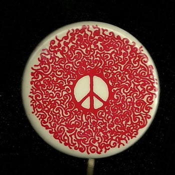 1960s early 70s Groovy Peace Pinback Button