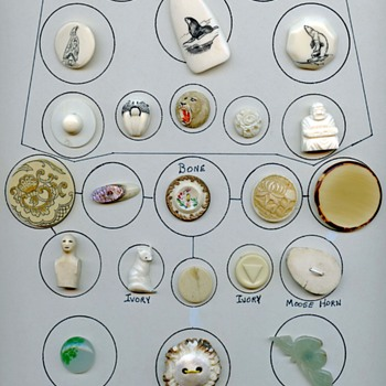 Ivory Bone Jade buttons card