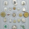 Ivory Bone Jade buttons card