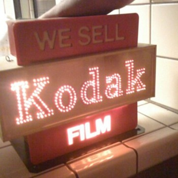 Kodak Sign with Lights