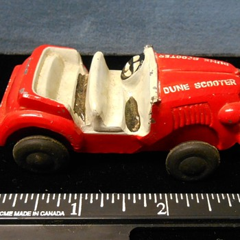 "Jeep ""Dune Scooter"" slush-mold from 50s~Anyone know the maker? - Toys"