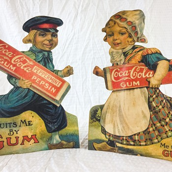 Coca-Cola and Pepsin Gum Dutch Boy and Girl - Coca-Cola