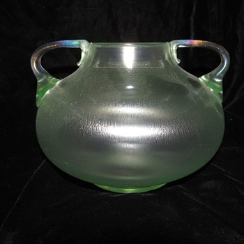 Loetz Olympia Handled Vase.