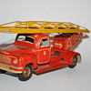 tippco fire truck friction tin toy