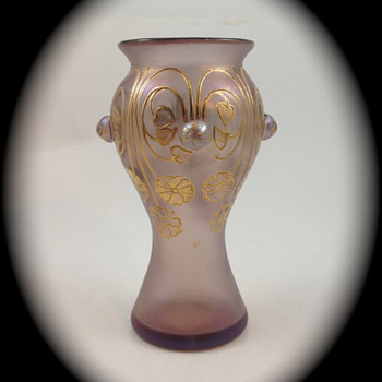 Loetz Turmalin m/Boutons, Serie II, Form Nr. 2/529, ca. 1902 - Art Glass