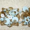 Help identify Vintage Bracelet gold Filagree & blue beads