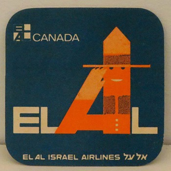EL AL 1968 Coasters  - Advertising