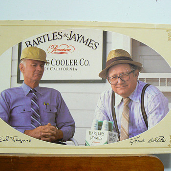 Bartles &amp; Jaymes cardboard sign