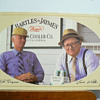 Bartles & Jaymes cardboard sign