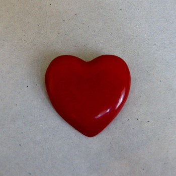 Happy Valentine's Day! Red pin and bakelite bangle - Costume Jewelry