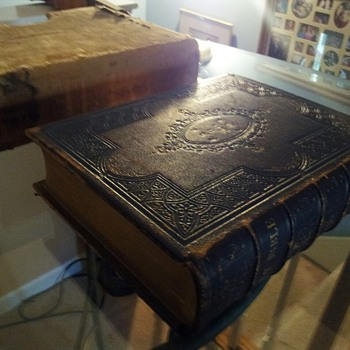 1854 Carlton Porter Authorized Holy Bible - John Fletcher - Books