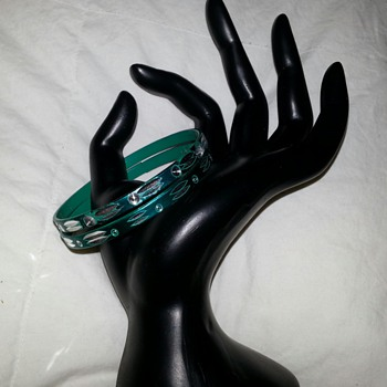 Etched Turquoise Metallic Bracelets