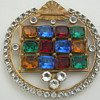 Hebrew? Large 4 1/2&quot; x 4 Rhinestone Clip