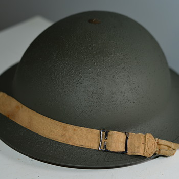 WWII Restored Canadian Military Helmet - Military and Wartime