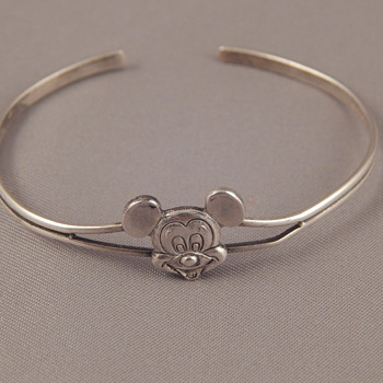 Vintage? Silver? Mickey Mouse Bangle for children